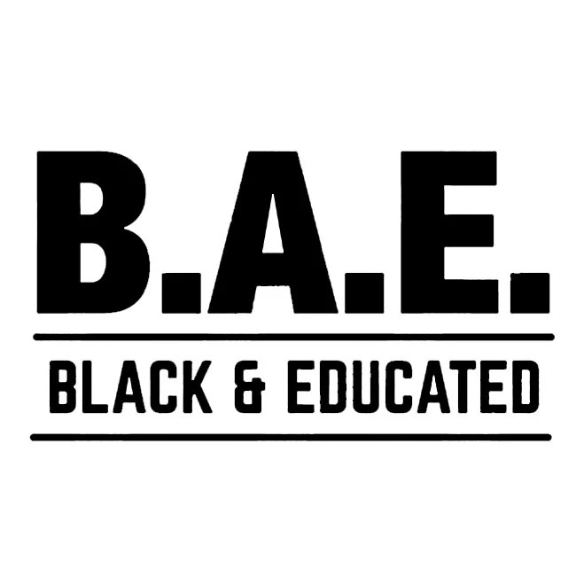 BAE Black and Educated Text SVG Black History Month Heat vinyl Transfers