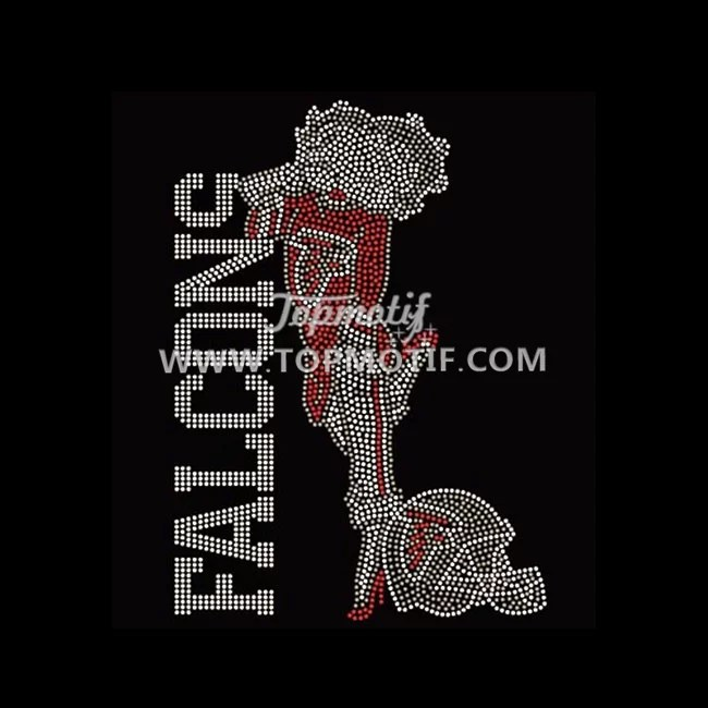 Falcons Rhinestone Iron on Transfer Design For Clothing