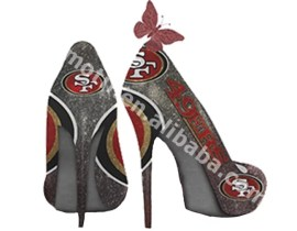 Hot Sale Custom SF 49ers High Heel Iron on Vinyl Transfer Design