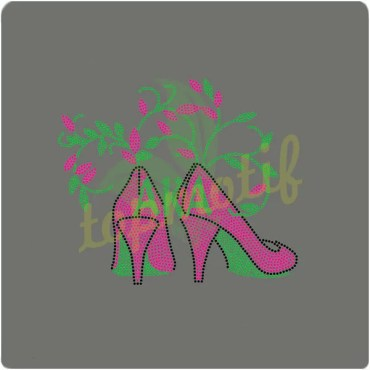 AKA high heels rhinestone transfers for custom apparel