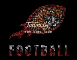 FOOTBALL custom rhinestone t shirts wholesale