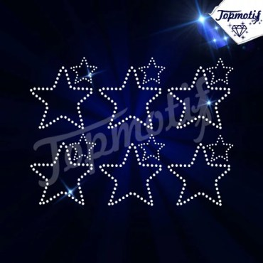 Custom Rhinestone Iron On Designs Christmas Star For Baby Dresses