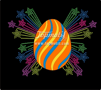 Happy Easter design fluorescent material custom rhinestone t shirts