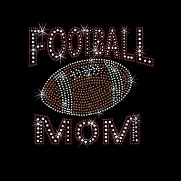 Create Your Own Iron On Football Mom Rhinestone Transfer Hot Fix Design