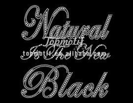 Cheap Iron On Rhinestone Transfers Natural Is The New Black