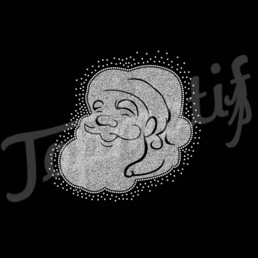 Wholesale Santa Glitter Heat Transfers for Christams Holiday