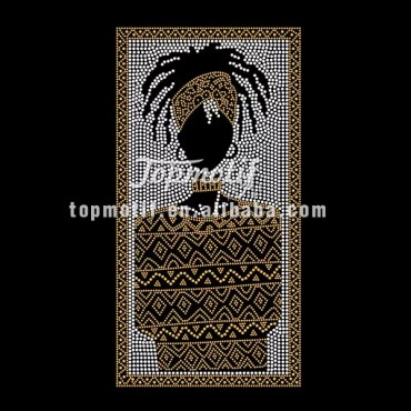 Rasta Sister With African Cloth Bling Iron On Transfers Wholesale