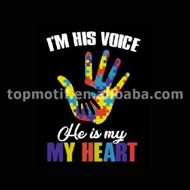 Wholesale Custom Autism Heat Transfer Vinyl For T-shirts