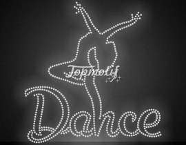 Crystal color hot fix rhinestone dance heat transfer for shirts