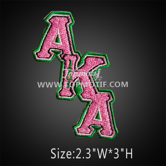 AKA greek letter patch iron on