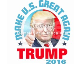Donald trump 2016 t shirt iron on vinyl heat transfer printing