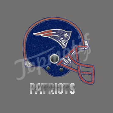 Glitter Patriots Helmet Rhinestone Transfers Garments Accessories