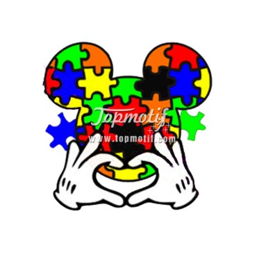Wholesale mickey Autism Awareness plastisol transfer printer