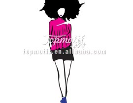 Wholesale Heat Transfers Afro Girl Heat Transfer Printing For T Shirts
