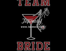 Custom Iron Transfers Team Bride Rhinestone Hot Fix Transfer