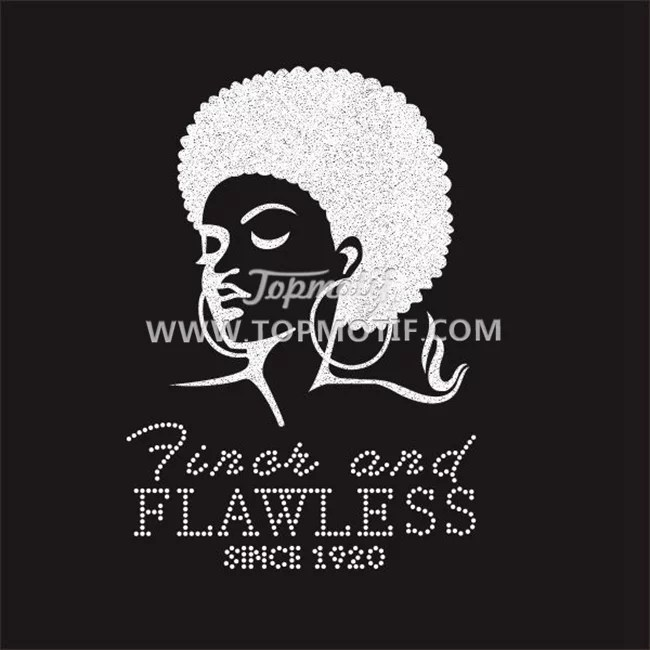 Finer and Flawless Since1920 Zeta Glittter Rhinestone Heat Transfer Vinyl