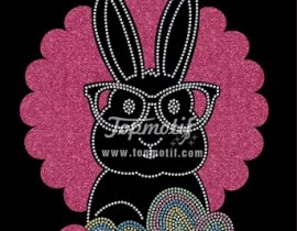 2018 hot sale of Easter transfer vinyl cricut glitter iron on clothing