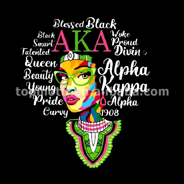Alpha Kappa Alpha Sorority Design Heat Transfer Vinyl