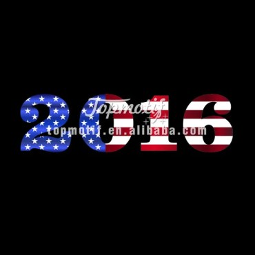 Presidential Election Sublimation Print Heat Transfer Vinyl Numbers 2016