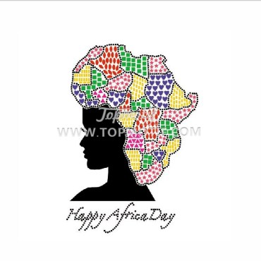 Custom Design Iron on Afro Girl Heat Transfer