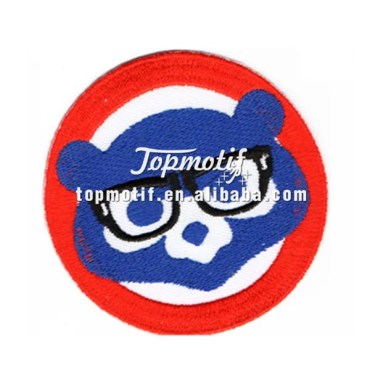 Cubs iron on patches custom embroidery logo patches for cloth