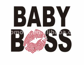 Custom Baby Boss Rhinestone Transfer Iron on Design