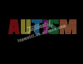 wholesale autism rhinestone iron on transfer
