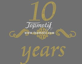 hotfix stone 10 years iron on rhinestone bride appliques