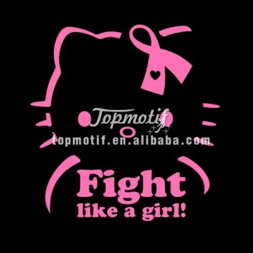 T Shirt Printing Iron On Transfers Fight Like A Girl Vinyl Hotfix Motifs