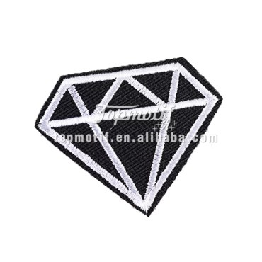 custom diamond embroidered patches