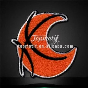 Free Embroidery Design Basketball Iron on Custom Patches for Tshirt