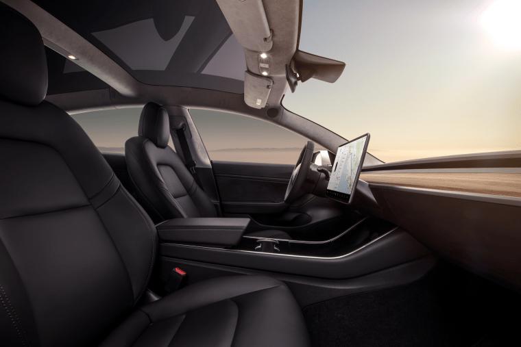 Model 3 - Interior Dash - Profile View