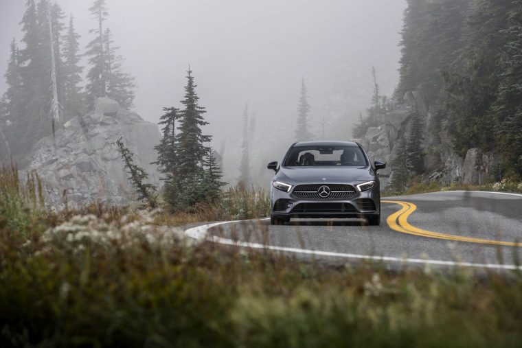 2019-Mercedes-Benz-A-220-Driving-Front