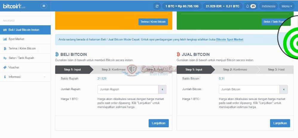 tarik tunai bitcoin ke rupiah
