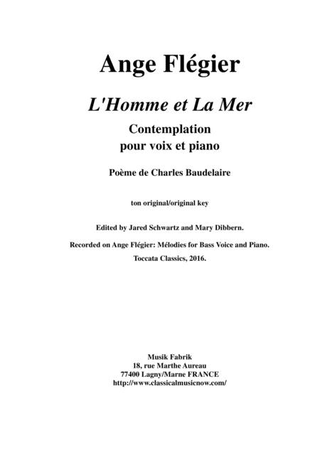 Baudelaire L'homme Et La Mer : baudelaire, l'homme, Flgier, Homme, Voice, Piano, Music, Sheet, Download, TopMusicSheet.com