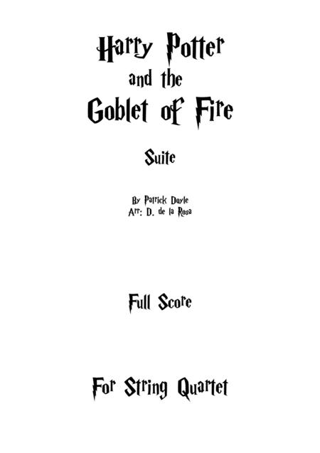 Harry Potter And The Goblet Of Fire Suite For String