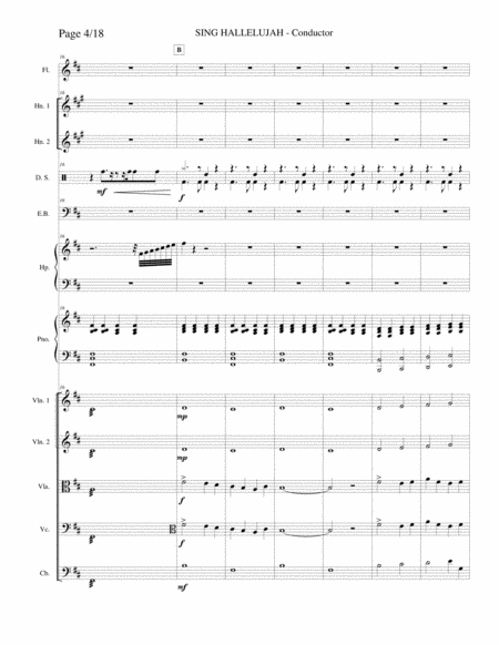 Maranatha Singers Sing Hallelujah Instrumental Score Set Of Parts Music Sheet Download - TopMusicSheet.com