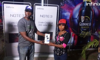 Infinix Fans takehome Smartphones & Accessories at the Guinness 'Matchday Made Of Black' Activation in Lagos & Owerri