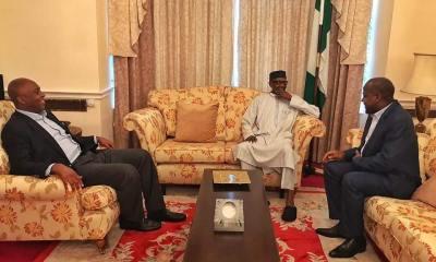 """His health has improved tremendously"" Saraki & Dogara after visit to Buhari"