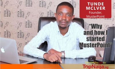 """""""How and why I started Musterpoint"""" - Tunde McIver shares on TopNaija Stories"""