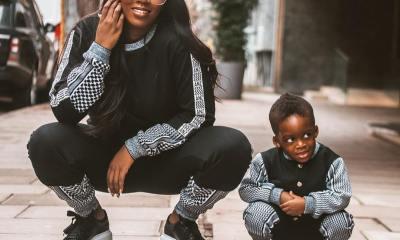 Tiwa Savage and son JamJam are Twinning in new Photos