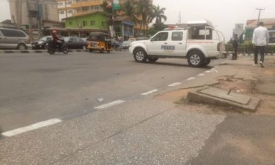 Police block protest against Tinubu in Lagos