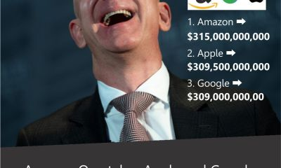 Amazon Overtakes Apple and Google, Becomes World's Most Valuable Brand