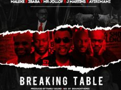 Maleke-X-2Baba-X-Mr-Jollof -Martins Ayirimami-Breaking-Table artwork
