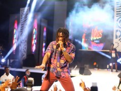 Burna Boy performing