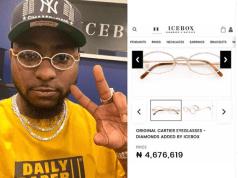 Davido eyeglasses