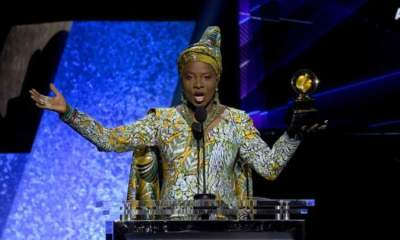 Burna Boy loses Grammys Award to Angélique Kidjo