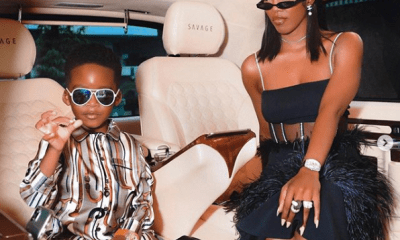Tiwa Savage shows in style with her son in new year photos
