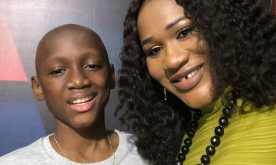 Sunmbo Adeoye shares cute photo of her son with Tuface as he turns 14