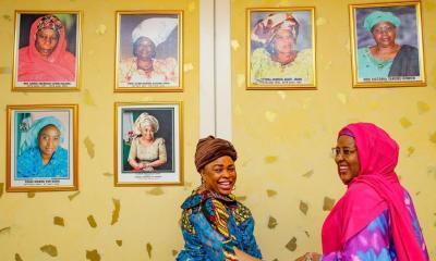 Aisha Buhari praises Patience Jonathan